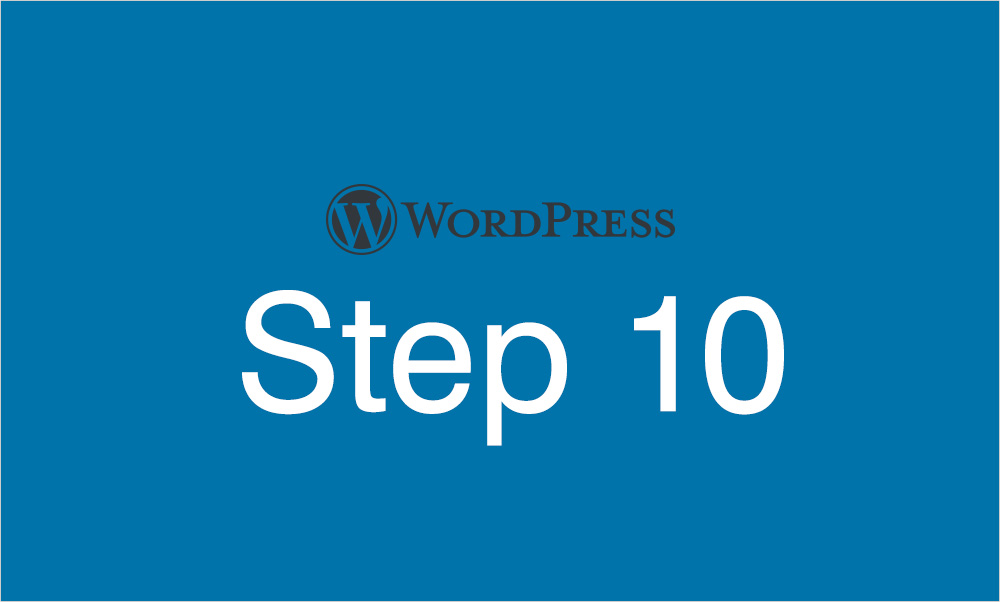 Step10 サイドバーウィジェットを設定する