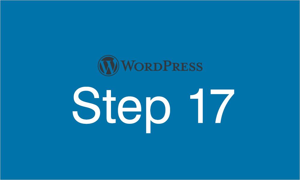 Step17 固定ページ カスタムテンプレートの作成