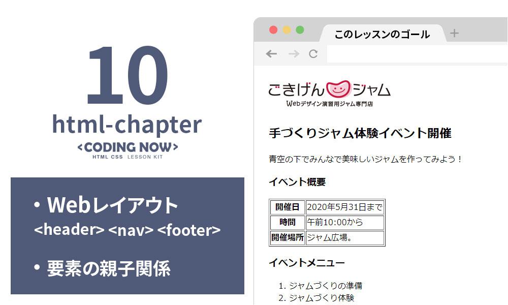 【HTML Chapter 10】Webレイアウト・要素の親子関係