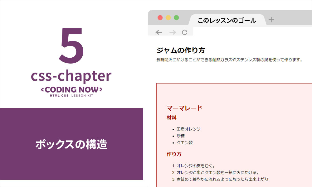 【CSS Chapter 5】ボックス構造の基本
